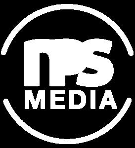 NPS Media LOGO HVIT Transparent